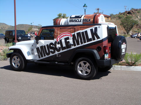 Muscle Milk Jeep