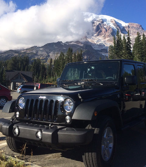 Jeep at Mount Rainer