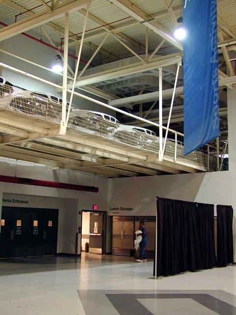 Overhead Conveyor leading to Paint Shop