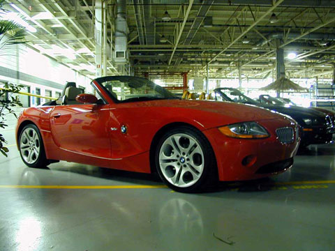 Z4 posed inside the plant